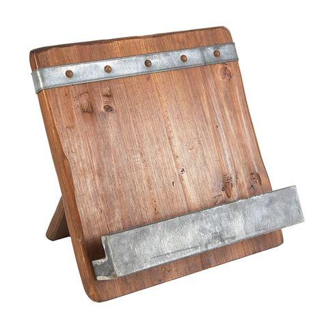 reclaimed wood cookbook stand wood cookbook