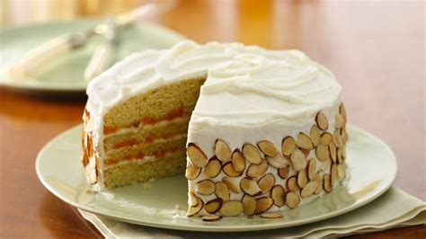 heavenly almond apricot layer cake recipe  betty crocker