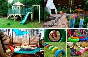 de belles idees d39amenagement d39espace de jeux dans le With idee de cloture exterieur 14 jeux denfants dans le jardin creez un espace adapte