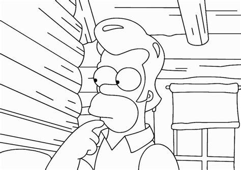 De Simpsons Kleurplaten by Simpsons Kleurplaat Tv Series Kleurplaat 187 Animaatjes Nl