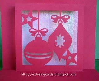 freebie holiday ornament window card stamping