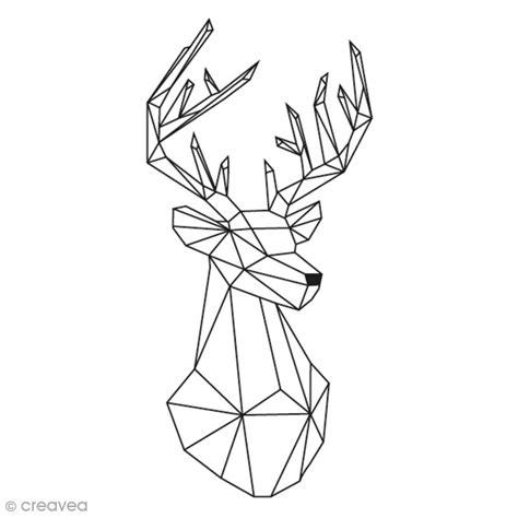 tampon aladine cerf geometrique    cm tampon bois