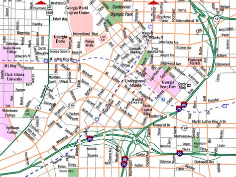 map  atlanta tourist travelquazcom