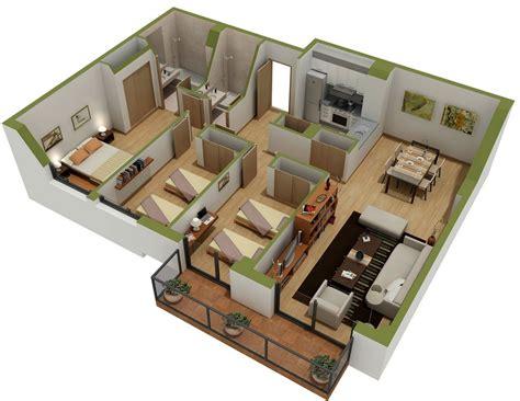 25 Three Bedroom Houseapartment Floor Plans by 25 Three Bedroom House Apartment Floor Plans