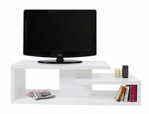 Meuble Tv Design Blanc Laqué : meuble tv design laqu blanc halton miliboo ~ Teatrodelosmanantiales.com Idées de Décoration