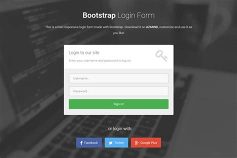 bootstrap login form template free download bootstrap login template downlllll
