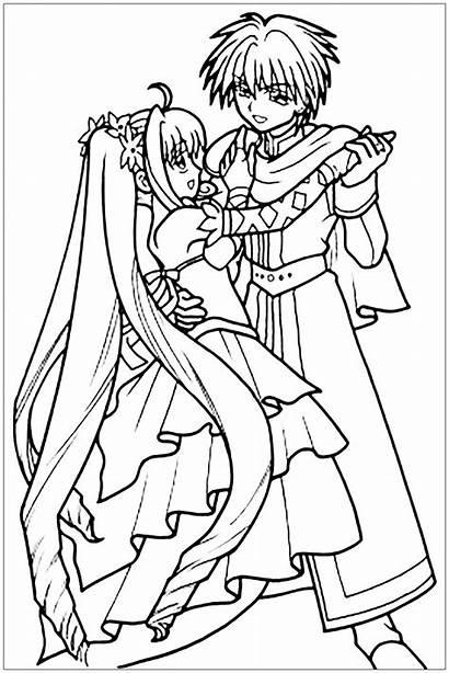 Manga Coloring Dancing Mangas Princess Drawing Dance