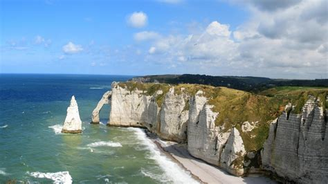 arche cliff etretat france normandie wallpaper