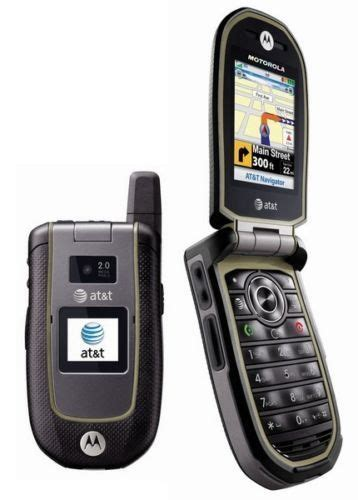 flip phone with gps motorola va76r tundra at t 3g gsm rugged durable