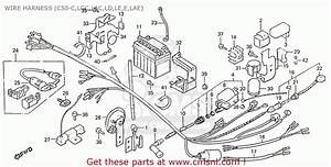 Honda C50e  England  Wire Harness  C50-c Lgc Lac Ld Le E Lae