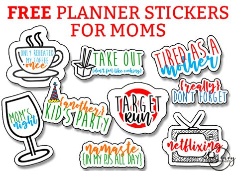 Download free svg icons and use them in your projects. Free Mom Planner Stickers - 33 Different Designs - Free ...
