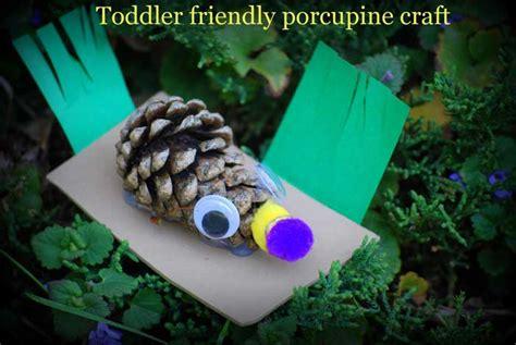 cute pine cone porcupines craft  kids woo jr kids
