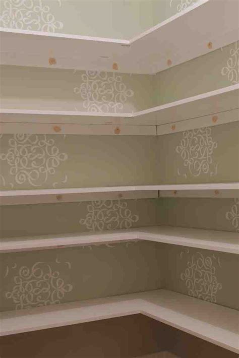 wooden pantry shelves decor ideas