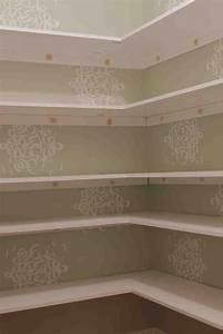 Wooden Pantry Shelves