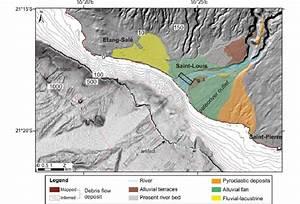 Map Of Alluvial Fan Of Rivi U00e8re Saint