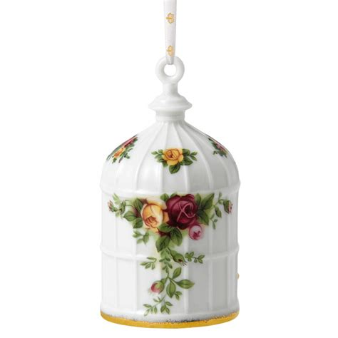 old country rose birdcage royal albert christmas ornament