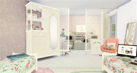 twin girls bedroom  lily sims sims  updates