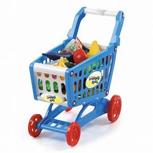 "19"" Mini Shopping Cart with Full Grocery Food Toy Playset ..."