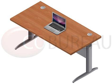 bureau pro bureau droit pro métal 160 cm pieds en l