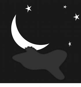 Clipart - Night Sky with Moon and Stars