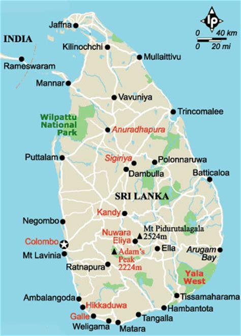 Sri-Lanka landkaart