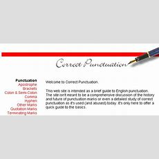 Pw Web Resources Punctuation Resources