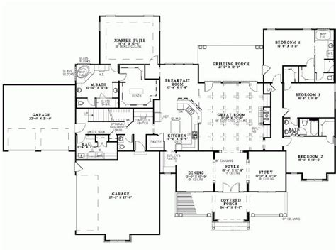 Four Bedroom House by Luxury 5 Bedroom Bungalow House Plans New Home Plans Design