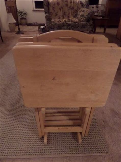 wooden tv trays with stand lot detail wooden tv trays with stand 1964