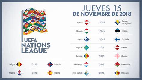 nations league calendario