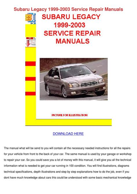how to download repair manuals 1991 subaru legacy on board diagnostic system subaru legacy 1999 2003 service repair manual by hassanfeldman issuu
