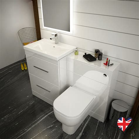 Buy Bathroom Furniture by Patello 1200 Bathroom Furniture Set White Buy At