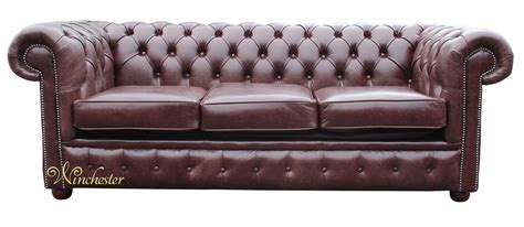 Chesterfield Settee chesterfield 3 seater settee brown leather