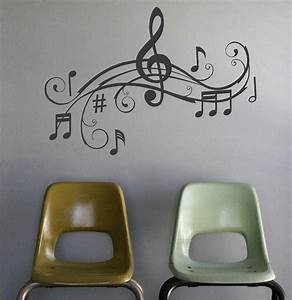 music notes wall art words vinyl lettering stickers With wall decor words letters