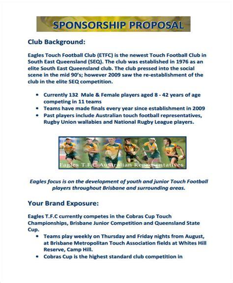 sports team sponsorship proposal template  piece