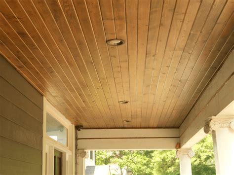 Exterior Wood Ceiling Planks by How To Install Porch Ceiling Panels