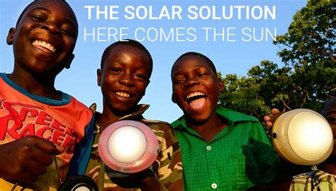 solar lights eradicating kerosene ls in africa