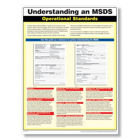 msds compliance poster meets osha s msds standards in the