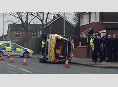 Police car overturns during chase through Heywood town