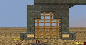 Opening And Closing Redstone Gate Minecraft Project