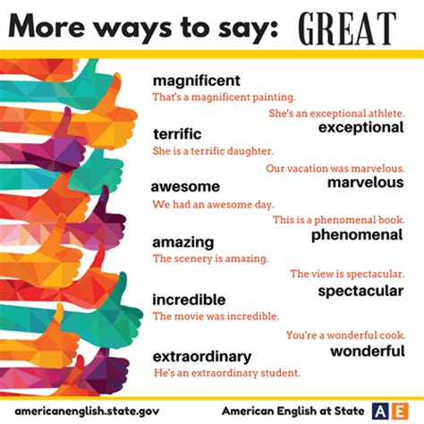 More Ways To Say Great