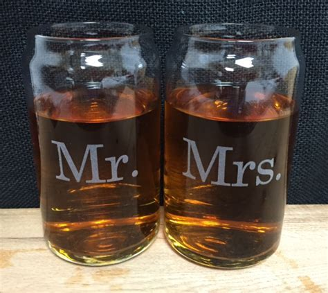 Mr. and Mrs. Beer Can Glass