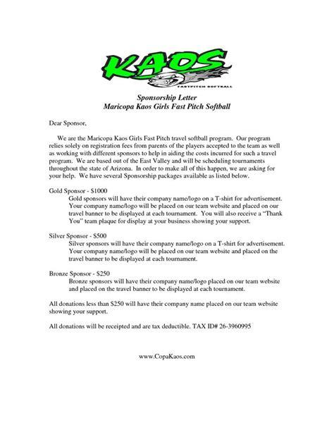 request letter baseball team sponsorship sports sample