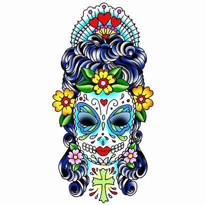 Skull Mexican Clipart Sugar Designs Tattoo Cliparts