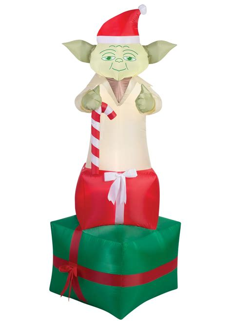 airblown christmas yoda star wars decoration decorations