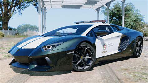 Police Lamborghini Aventador [automatic Spoiler] Gta5