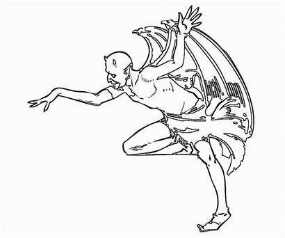 Coloring Pages Fairy Evil Adults Devil Rhyme