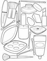 Coloring Makeup Olds sketch template