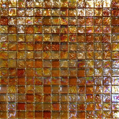 mosaic glass backsplash kitchen sle golden brown iridescent glass mosaic tile