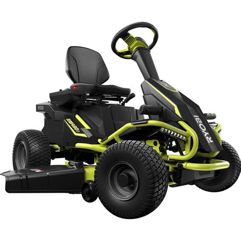 Flooring Ideas For Kitchen - ryobi 38 in battery electric rear engine riding lawn mower ry48110 the home depot