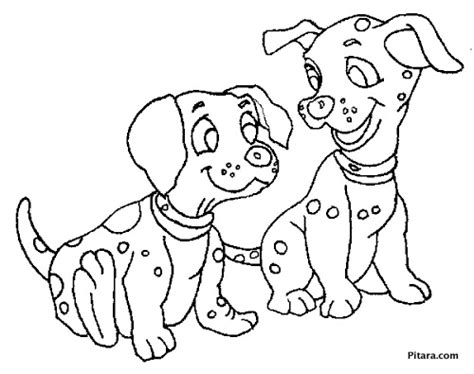 dalmatian puppies coloring page pitara kids network